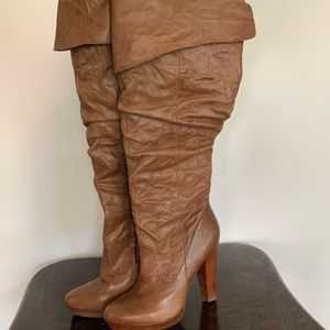 Jessica Simpson Leather knee high boots 10